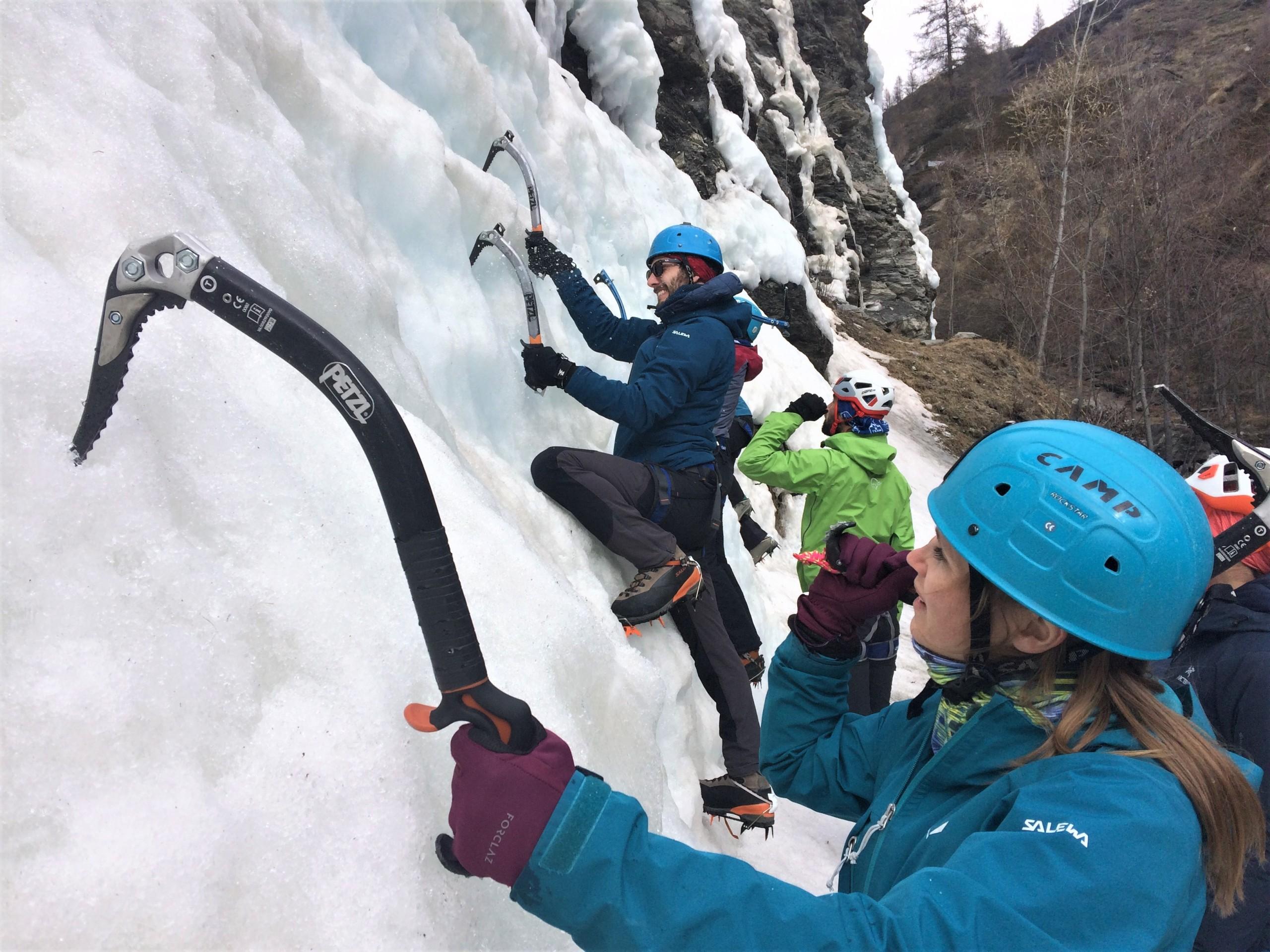 Initiation cascade de glace queyras