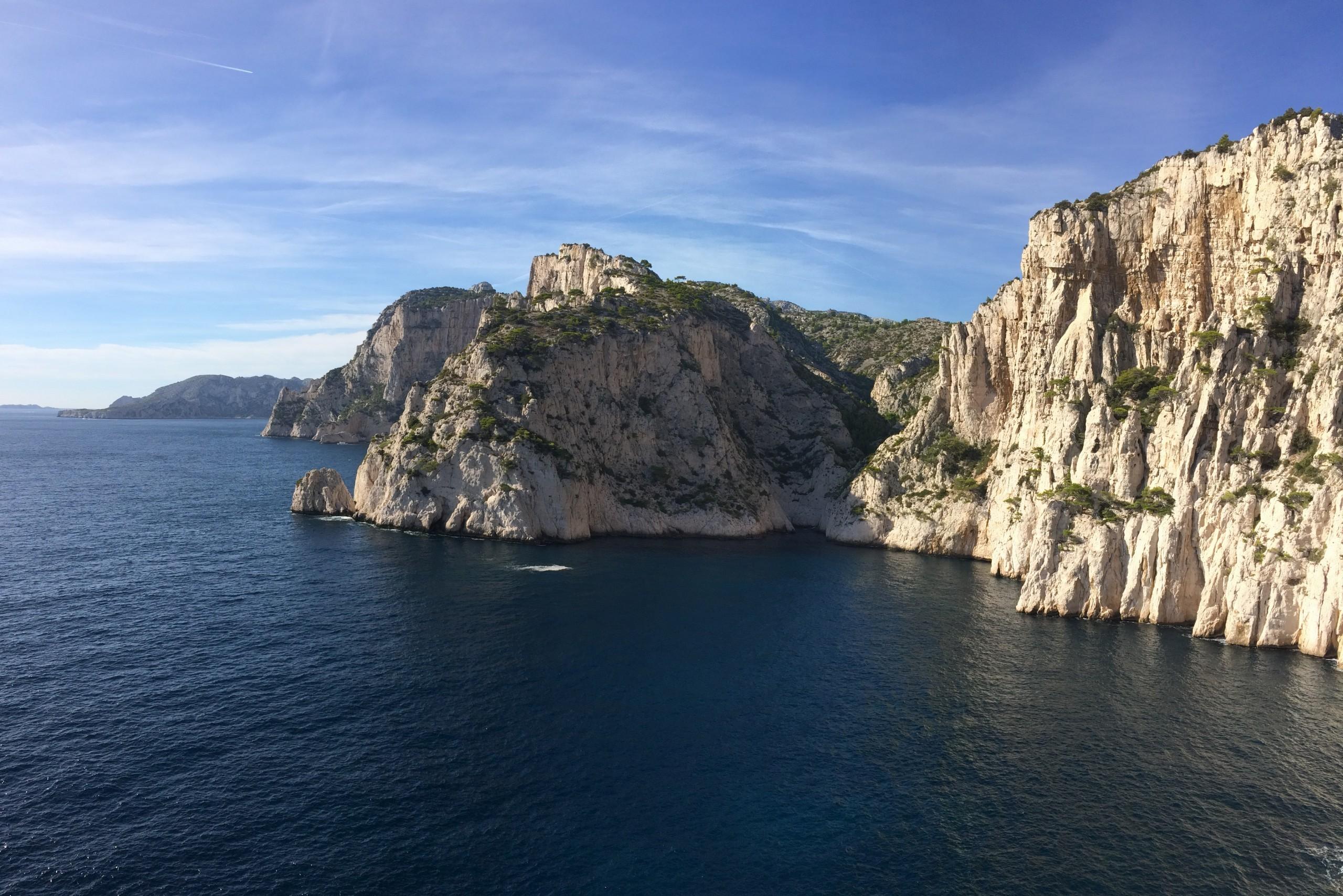 Les Calanques , fabuleux sites pour s évader en grande voie au bout du Monde