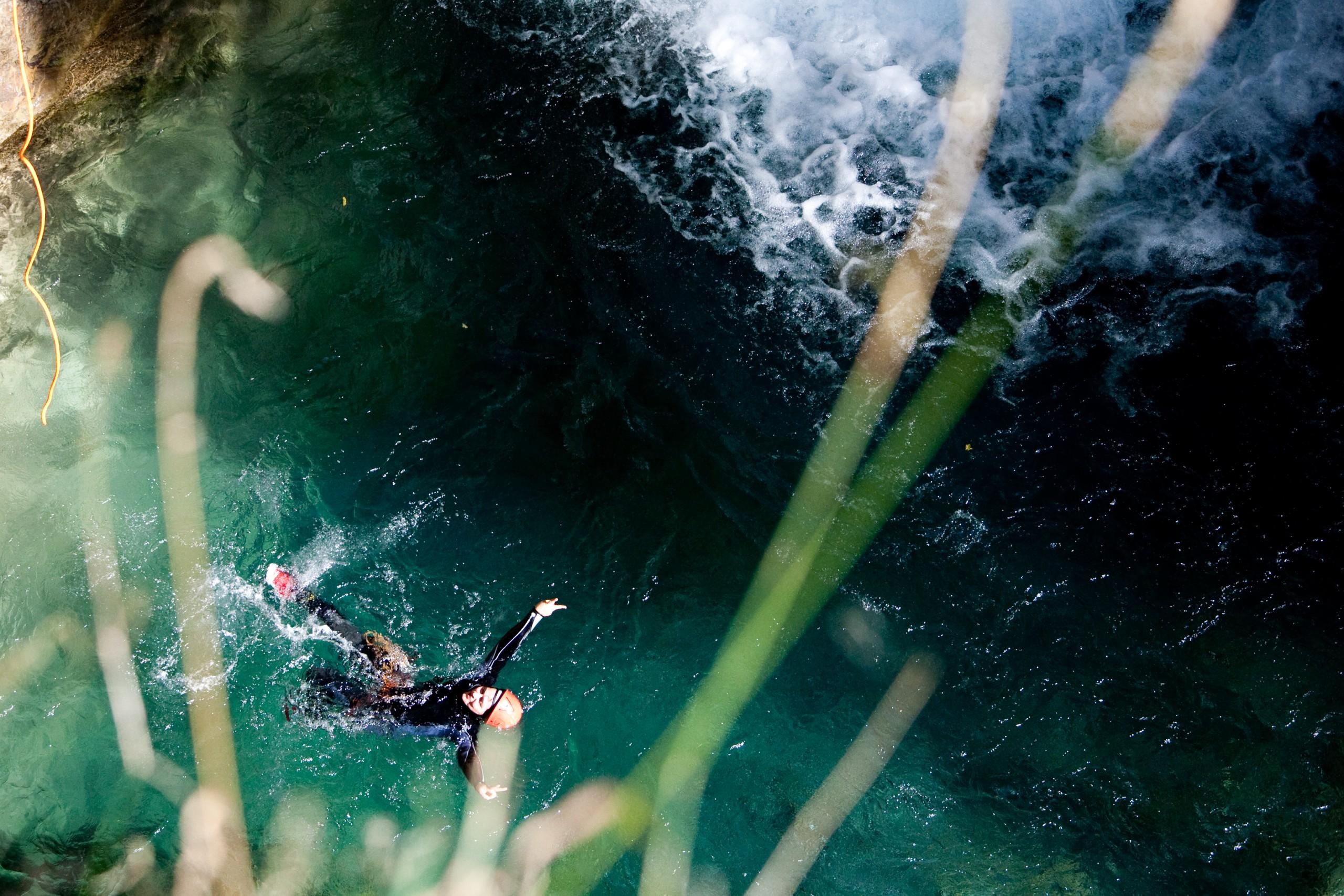 Canyon majeur des Oules et Chichin à Freissinière dans le massif des Écrins