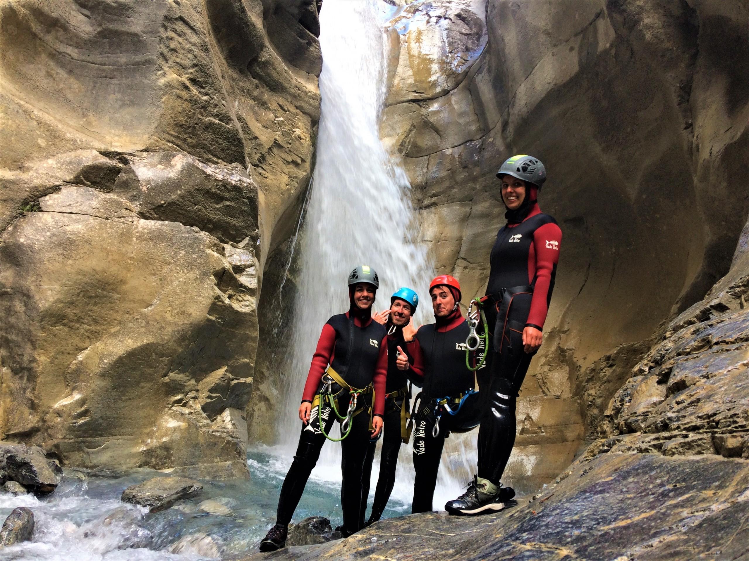 Canyon vertical et ludique des Acles proche de Briancon