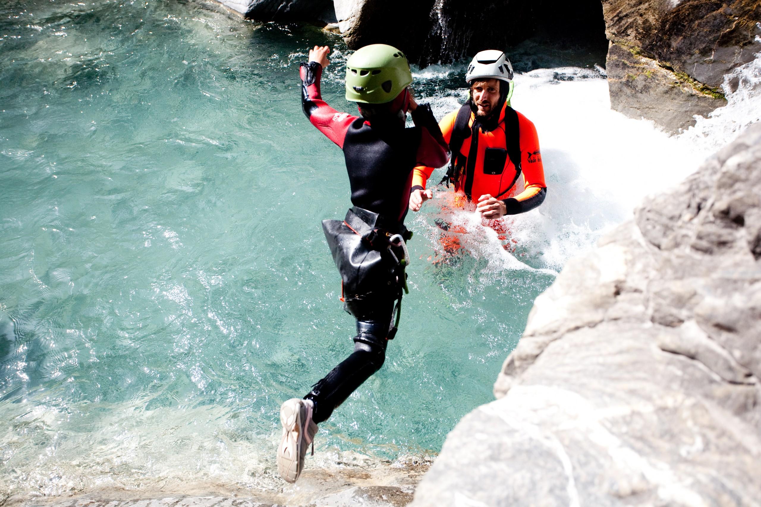 Petit saut dans le canyon du Couleau