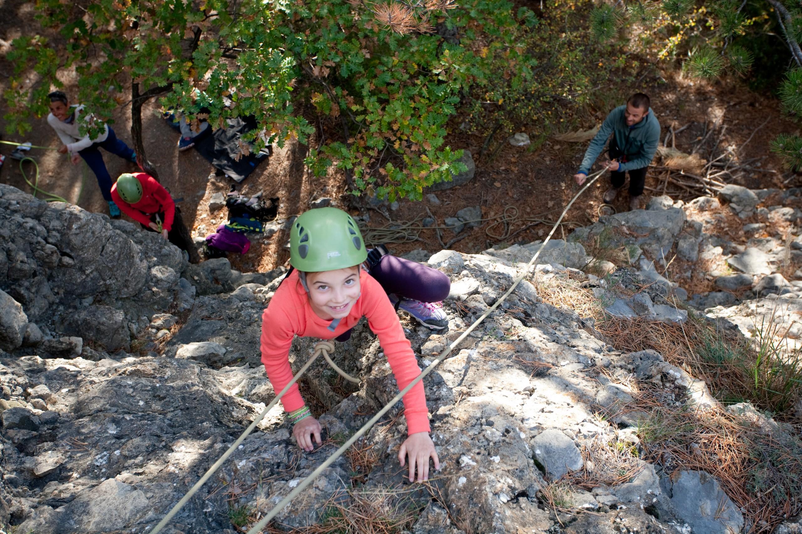 Ecole d'escalade enfant dans le Queyras