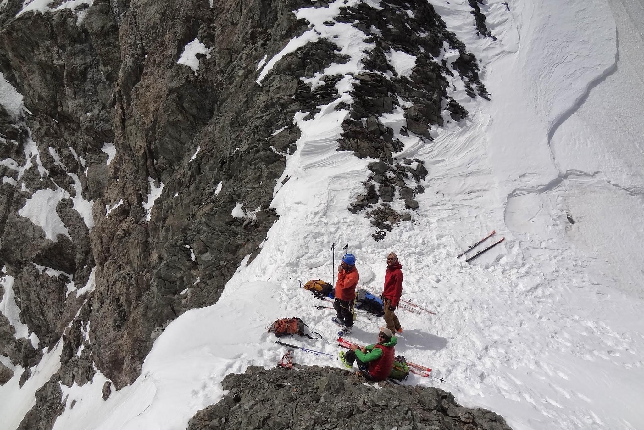 Au col de la grande sagne aprés avoir remontyé le glacier blanc au dessus du près de madame carle