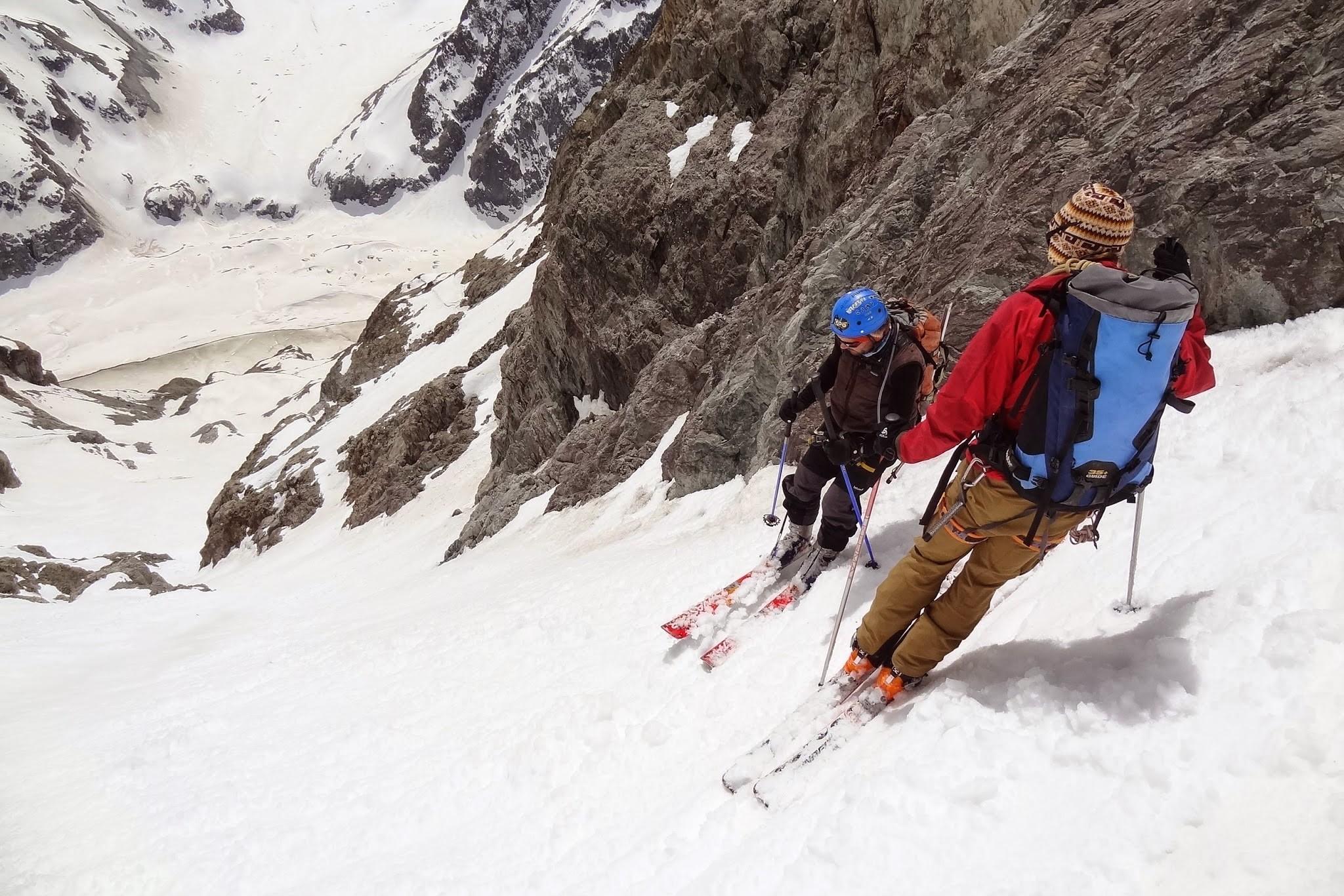 Dans le couloir de la grande sagne en ski de randonnée.