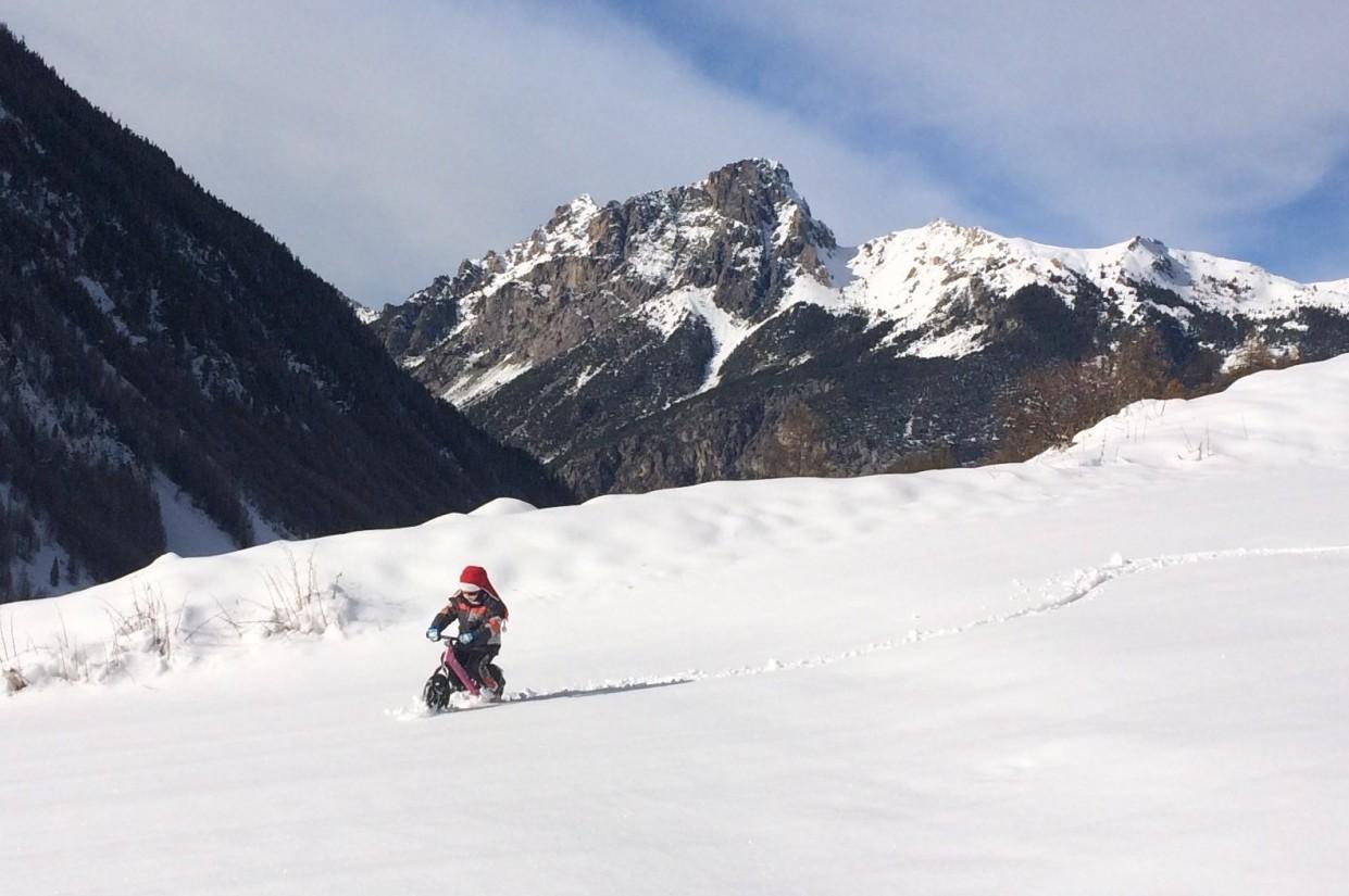 Vélo ski à Ceillac dans le Queyras
