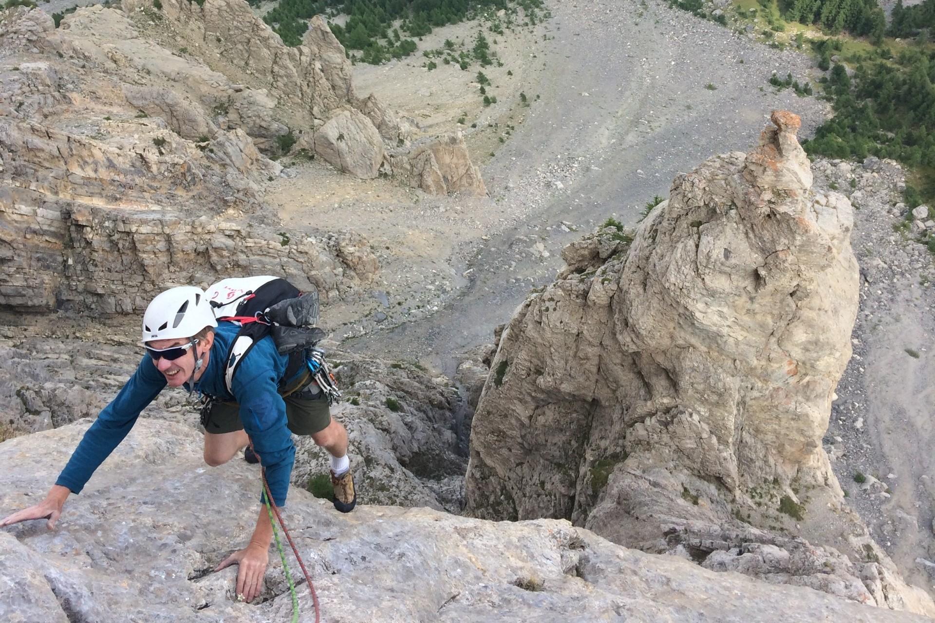 Stage escalade grande voie Hautes-Alpes au Tenailles de Montbrison