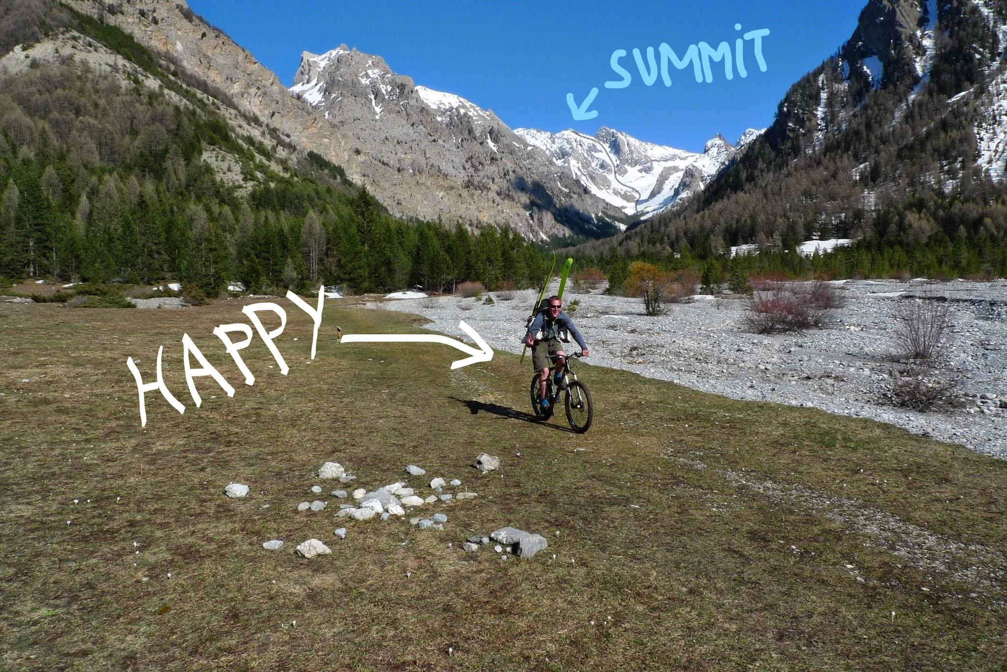 joseph content de sa journée de ski de randonnée dans le massif du Queyras.