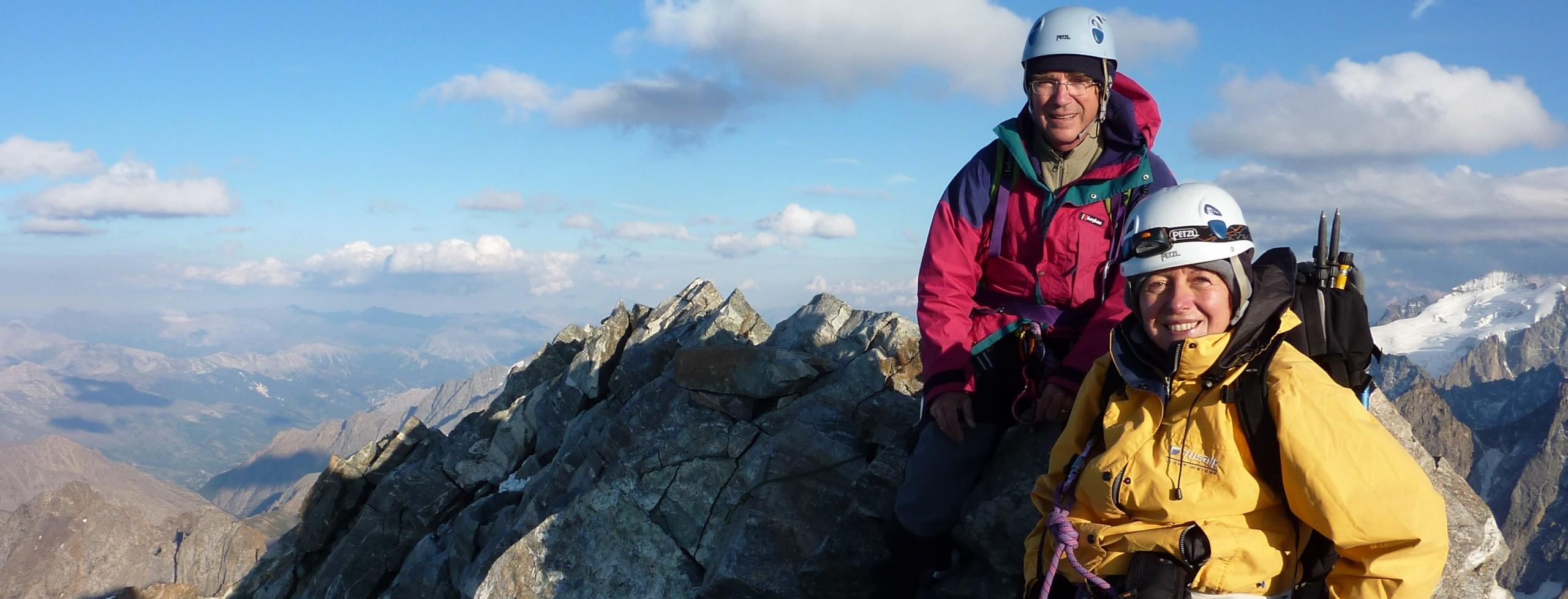 Alpinisme dans les Ecrins et le Queyras.