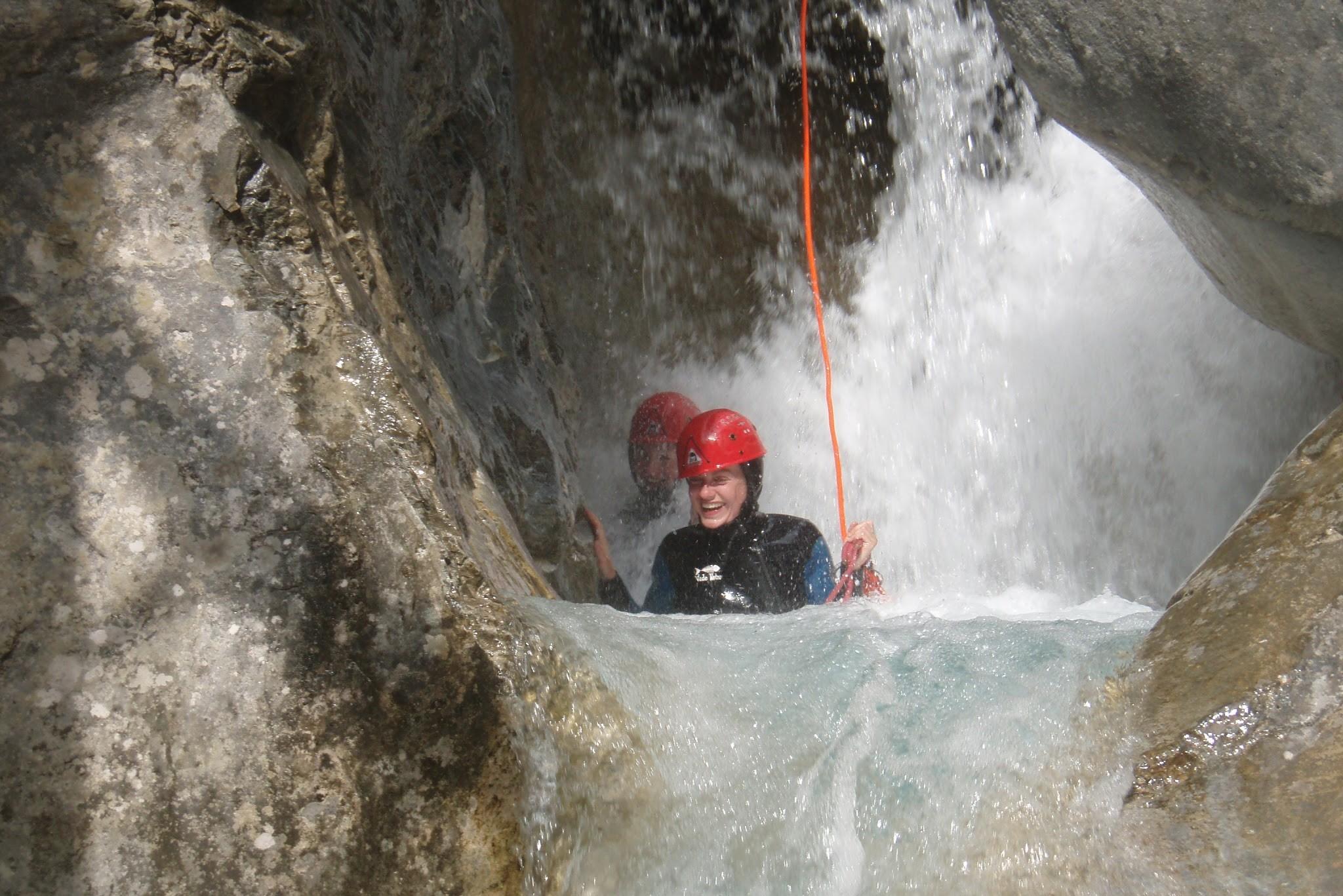 Canyon des Acles au cours du stage escalade multi-activités