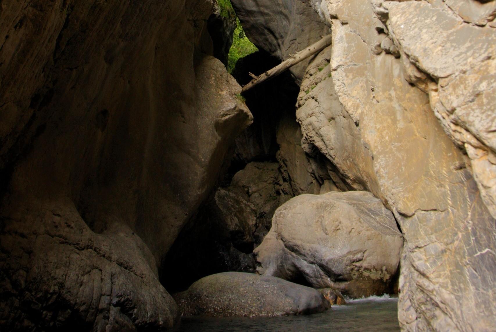 L'encaissement du canyon du Fournel
