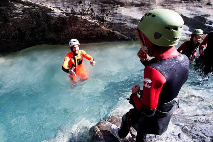 Le premier saut du canyon enfant du Couleau