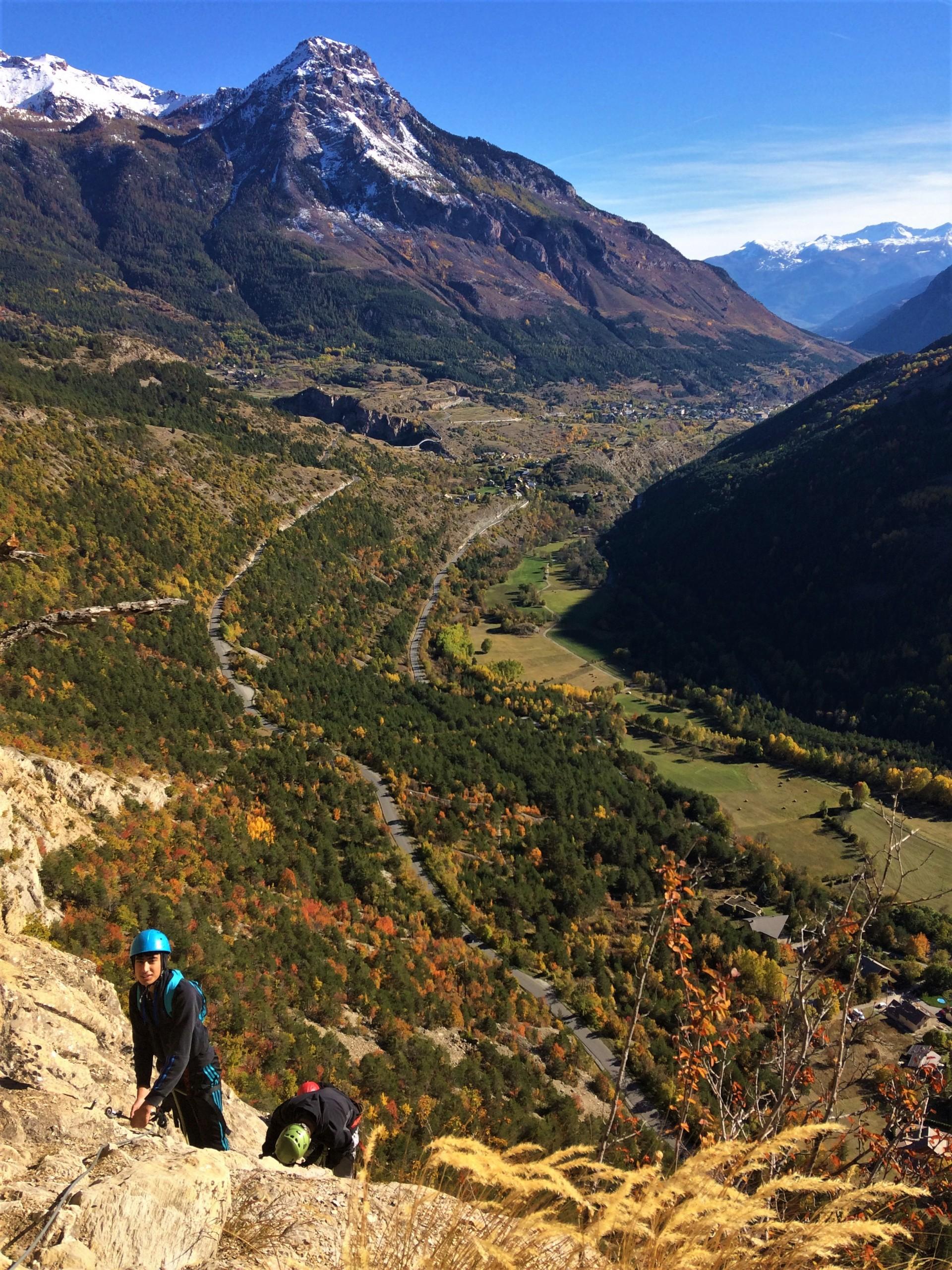 La vue sur la vallée de la Durance de la via ferrata des Vigneaux