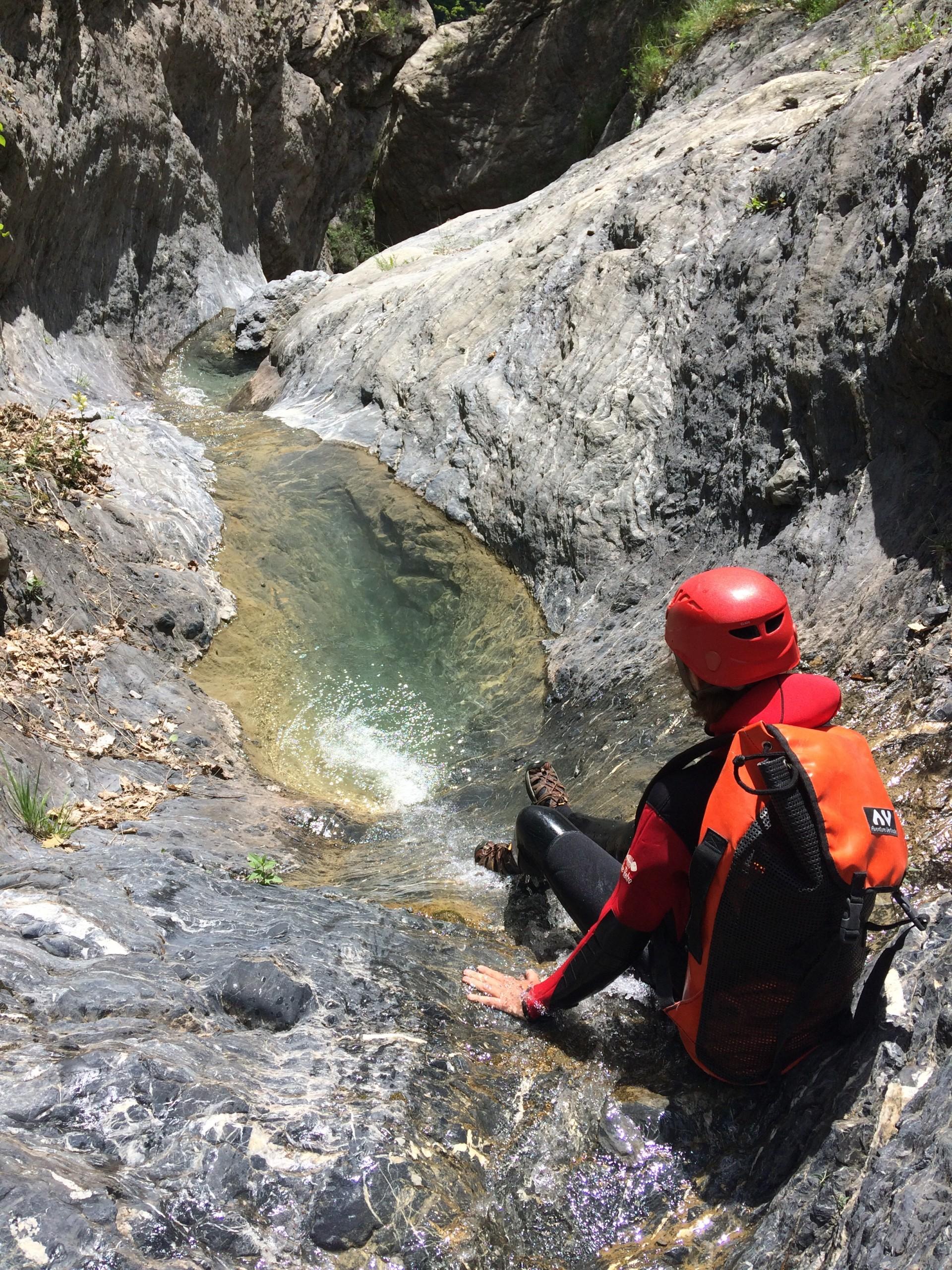 Mini toboggan dans le canyon de l'Enduchet