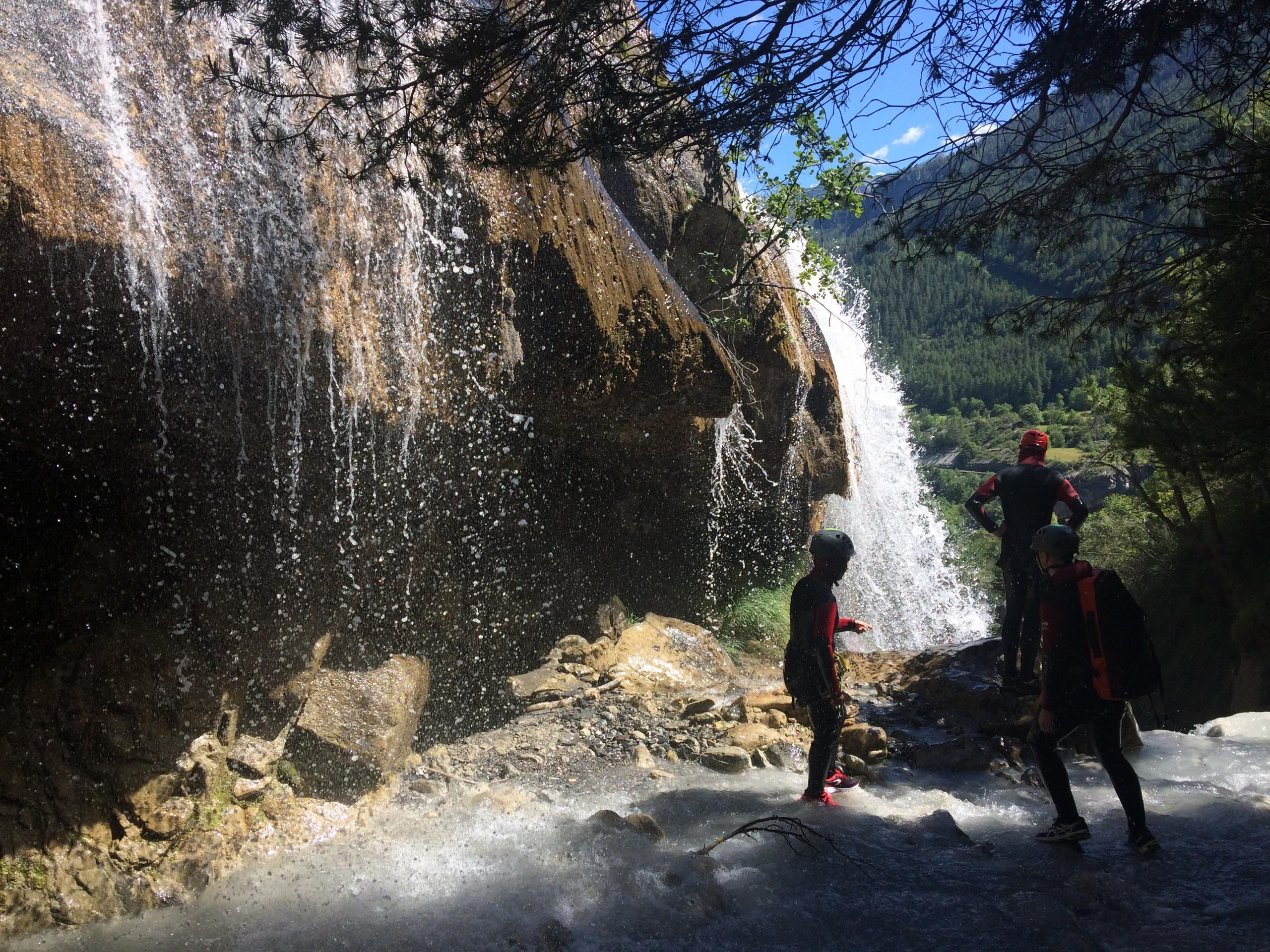 Les belles cascades de Costeplane dans le canyon de la Blache