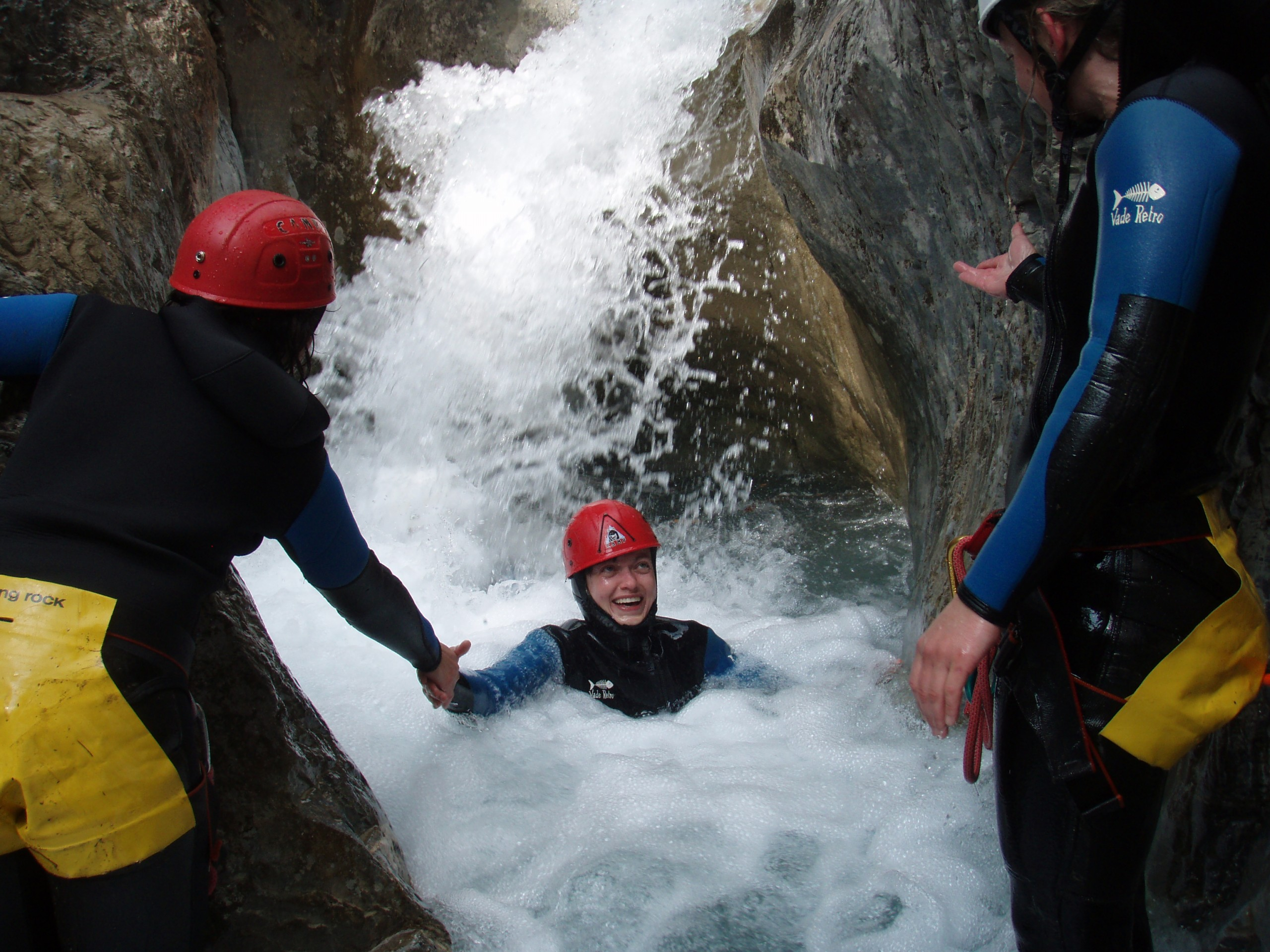 On s'amuse au cours du stage canyon Hautes Alpes