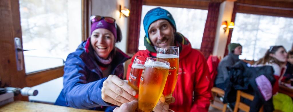 Après une belle journée de ski!