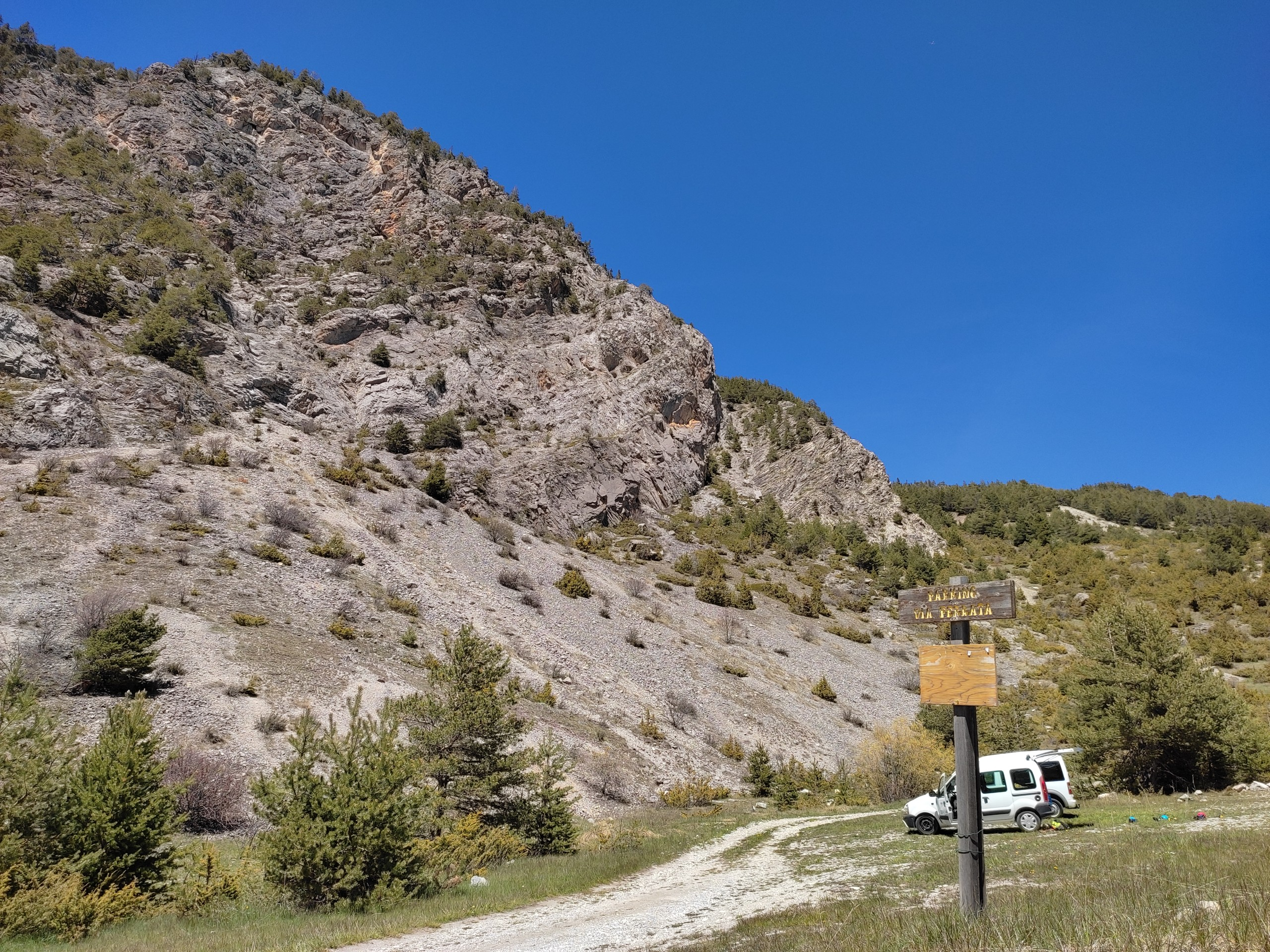 La falaise e la via ferrata de Ceillac