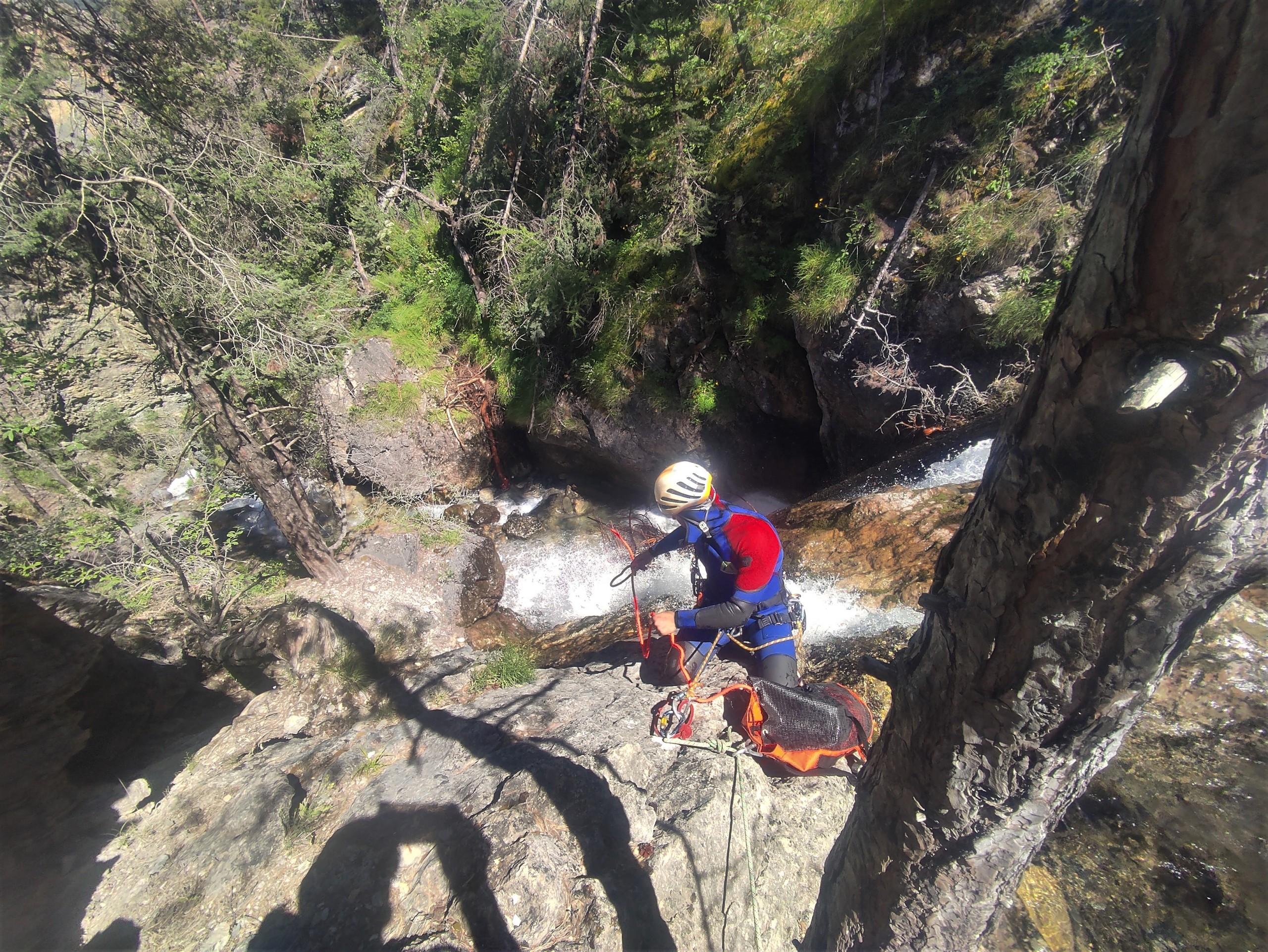 canyon de tramouillon dans les hautes alpes